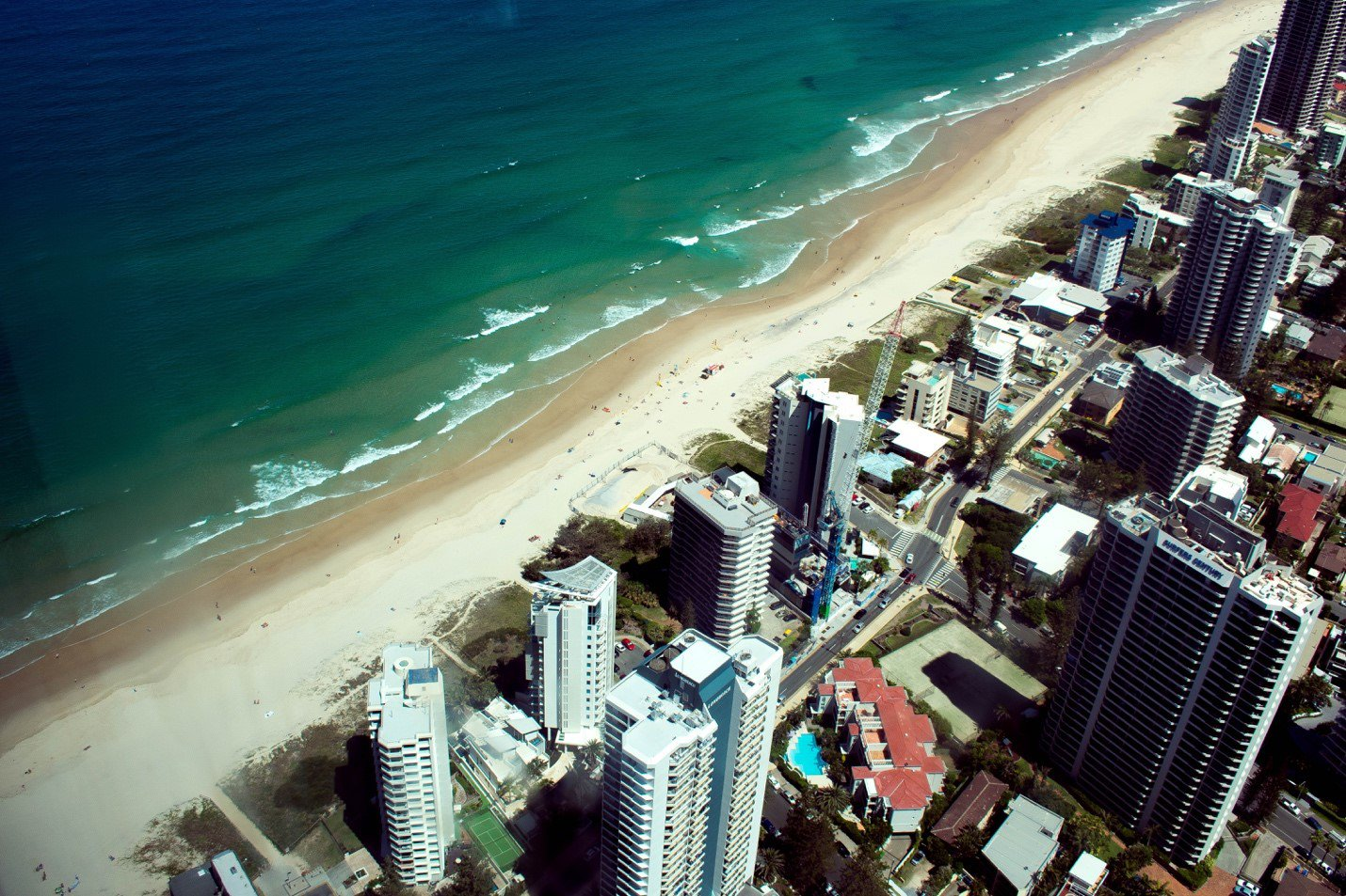 Buildings and beach