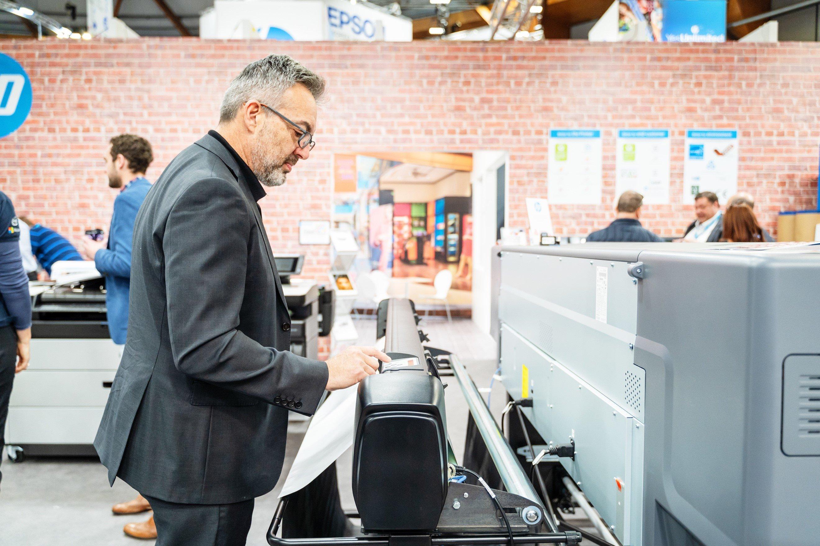 HP stand at Printex